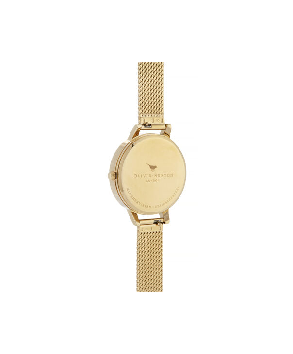 OLIVIA BURTON LONDON Celestial Demi Dial Watch with Boucle MeshOB16GD15 – Demi Dial in gold and Gold - Back view