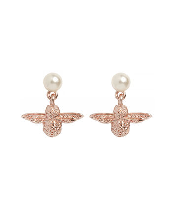 OLIVIA BURTON LONDON Pearl Bee EarringsOBJ16AME42 – Pearl Bee Stud Earrings - Front view