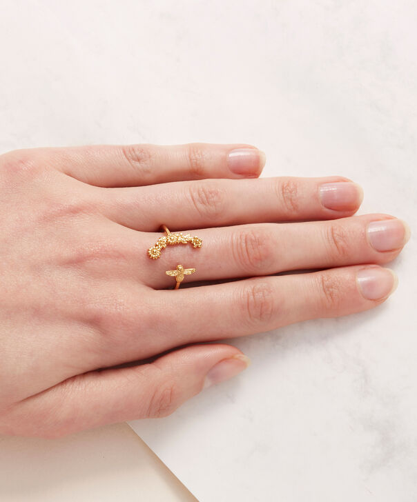 OLIVIA BURTON LONDON  Bee Blooms Ring Gold  OBJ16BBR02 – Bee Blooms Ring - Other view