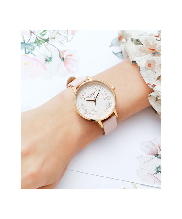 OLIVIA BURTON LONDON  Artisan Dial Blossom & Rose Gold OB16AR01 – Big Dial Round in Rose Gold and Pink - Other view