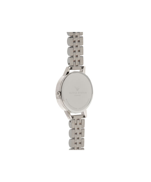 OLIVIA BURTON LONDON Midi Dial White Dial Rose Gold & Silver Bracelet WatchOB16MDW25 – Midi in White and Silver and Rose Gold - Back view