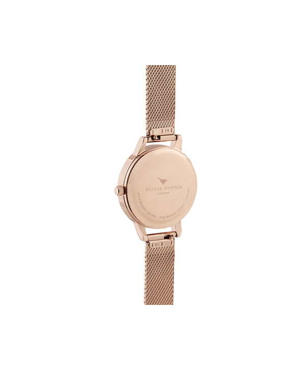 OLIVIA BURTON LONDON Illustrated Animals Cat Midi Rose Gold MeshOB16WL76 – Demi Dial In Rose Gold And Rose Gold - Back view