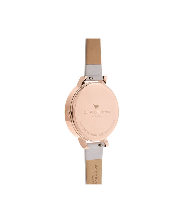 OLIVIA BURTON LONDON  Watercolour Florals Blush & Rose Gold OB16PP41 – Midi Dial Round in Rose Gold - Back view