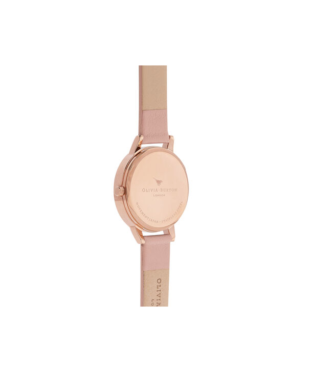 OLIVIA BURTON LONDON Botanical 3D Bee Dusty Pink, Rose Gold WatchOB16AM101 – Midi Dial Round in White and Pink - Back view