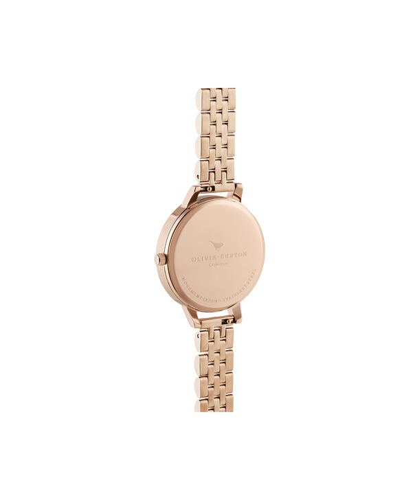 OLIVIA BURTON LONDON Enchanted Garden Demi Rose Gold BraceletOB16EG135 – Demi Dial In Rose Gold And Rose Gold - Back view