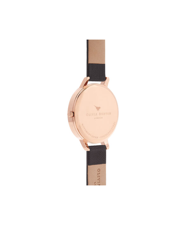 OLIVIA BURTON LONDON  Big Dial Black And Rose Gold Watch OB15BD66 – Big Dial Round in Black - Back view