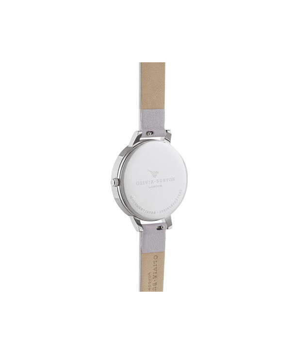 OLIVIA BURTON LONDON Watercolour Florals Demi Grey Lilac Rose Gold & SilverOB16PP56 – Demi Dial In Grey And Silver - Back view