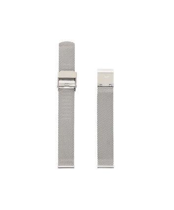 OLIVIA BURTON LONDON Midi Dial Mesh Bracelet Watch Strap OBS125A – Silver Mesh Bracelet Strap - Front view
