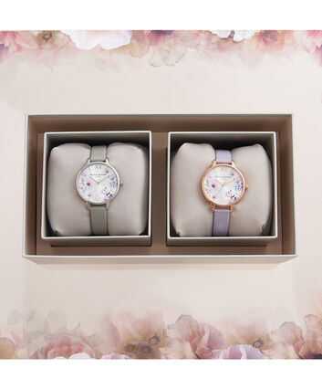 OLIVIA BURTON LONDON Mother & Daughter Sunlight Floral Gift SetOB16GSET30 – Mother & Daughter Sunlight Floral Gift Set - Front view