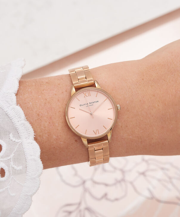 OLIVIA BURTON LONDON  Midi Dial Bracelet Rose Gold Watch OB13BL05B – Midi Dial Round in Rose Gold - Other view