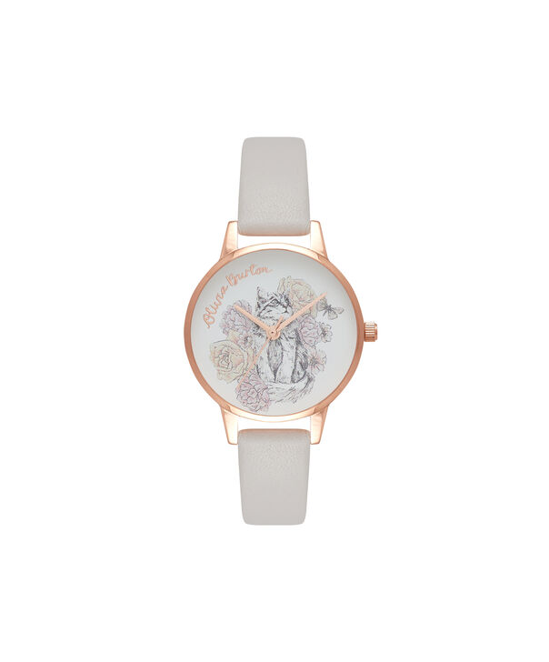 Ladies Animal Motif Cat Blush & Rose Gold Watch | Olivia Burton London