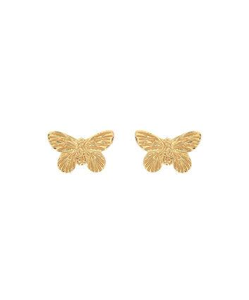 OLIVIA BURTON LONDON  3D Butterfly Stud Earrings Gold OBJ16MBE01 – 3D Butterfly Stud Earrings - Front view