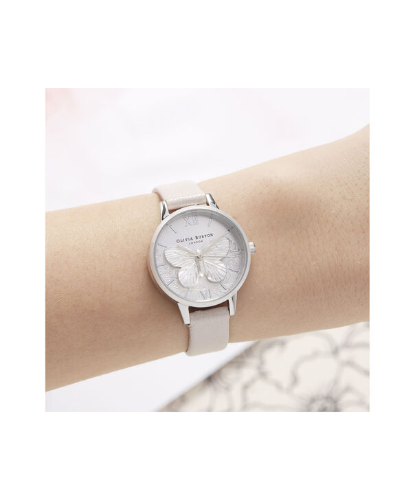 OLIVIA BURTON LONDON Lace Detail Midi Dial WatchOB16MV97 – Midi Dial in pink and Silver - Other view