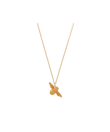 OLIVIA BURTON LONDON 3D Bee Pendant Necklace GoldOBJ16AMN27 – 3D Bee Pendant Necklace - Front view