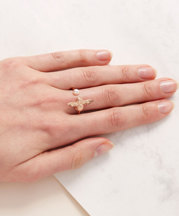 OLIVIA BURTON LONDON  Pearl Bee Ring Rose Gold  OBJ16AMR09 – Pearl Bee Ring - Other view