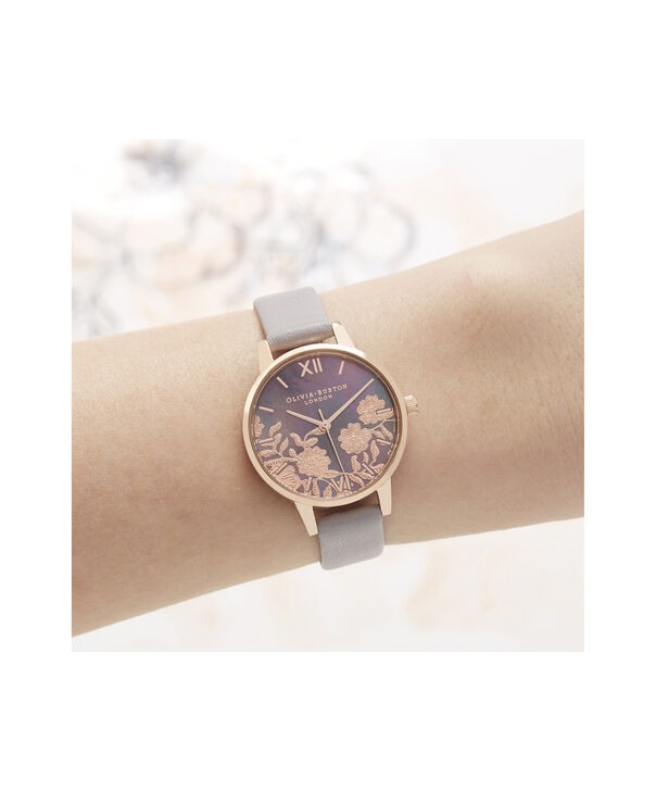 OLIVIA BURTON LONDON Lace Detail Midi Dial WatchOB16MV92 – Midi Dial in grey and Rose Gold - Other view