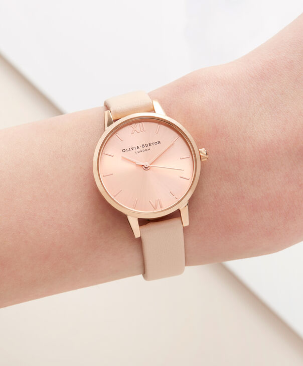 OLIVIA BURTON LONDON Case Cuff Nude Peach and Rose Gold OB16CB11 – Removable Case Cuff - Other view