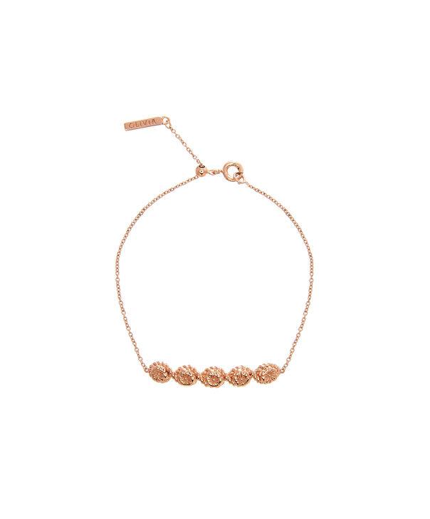 OLIVIA BURTON LONDON Flower Show Rope Chain Bracelet Rose Gold OBJ16FSB11 – Floral Charm Chain Bracelet - Front view