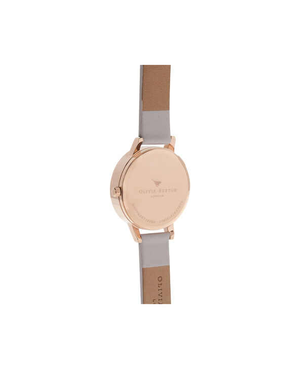 OLIVIA BURTON LONDON  3D Bee Blush Dial Blush & Rose Gold Watch OB16AM85 – Midi Dial Round in Blush - Back view