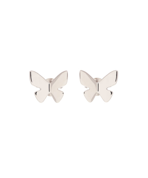 OLIVIA BURTON LONDON  Social Butterfly Stud Earrings Silver OBJ16SBE03 – Social Butterfly Stud Earrings - Front view