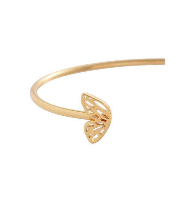 OLIVIA BURTON LONDON Butterfly Wing Bangle Gold OBJ16EBB04 – Butterfly Wing Bangle - Side view