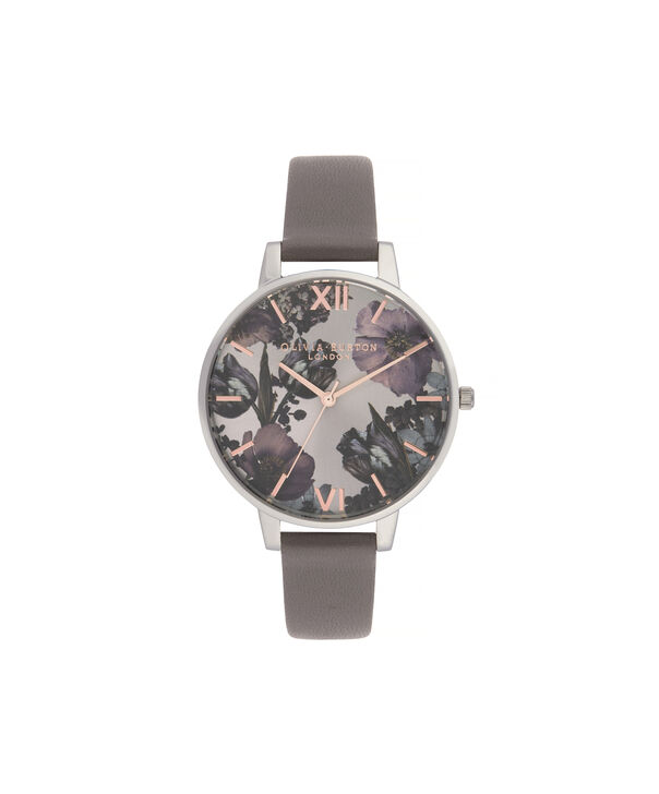 OLIVIA BURTON LONDON Twilight Sunray Big Dial WatchOB16TW05 – Big Dial in grey and Silver & Rose Gold - Front view