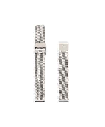 OLIVIA BURTON LONDON Midi Dial Silver Mesh Bracelet Watch StrapOBS125A – Silver Mesh Bracelet Strap - Front view
