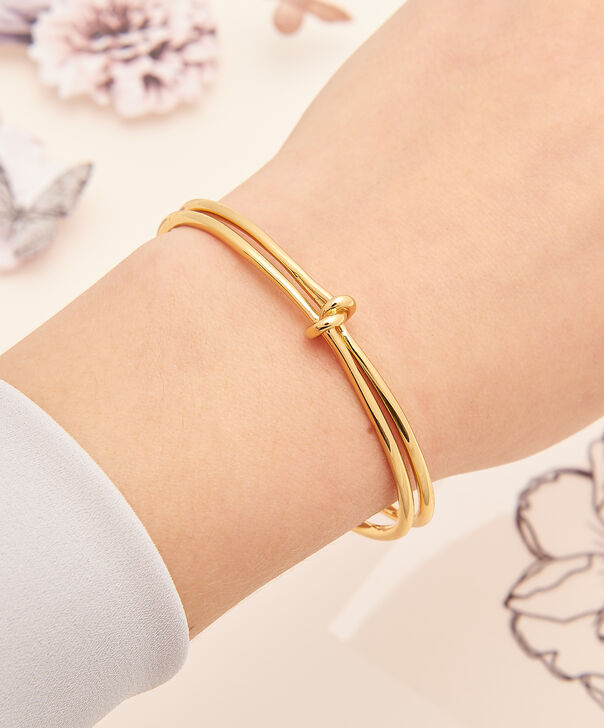 OLIVIA BURTON LONDON  Forget Me Knot Cuff Bracelet Gold OBJ16KDB04 – Forget Me Knot Cuff - Other view