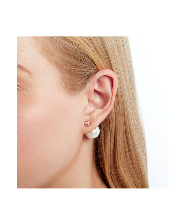 OLIVIA BURTON LONDON Under The Sea White Pearl Back Earrings Rose GoldOBJSCE09 – SHOPBAG_LABEL - Other view