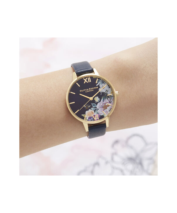 OLIVIA BURTON LONDON Enchanted Garden Demi Dial WatchOB16EG113 – Demi Dial in blue and Gold - Other view