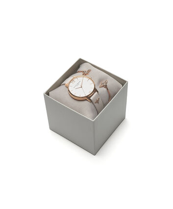 OLIVIA BURTON LONDON  Gift Set 3D Bee Watch with 3D Bee Bangle OB16GSET04 – Watch and Bangle Gift Set - Front view
