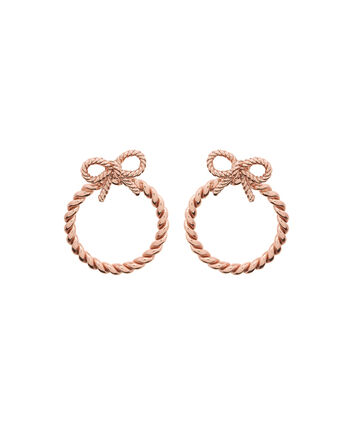 OLIVIA BURTON LONDON Vintage BowOBJ16VBE08 – Vintage Bow Rose Gold Earrings - Front view