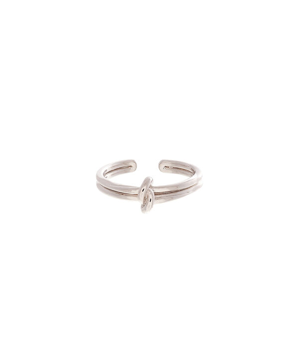 OLIVIA BURTON LONDON  Forget Me Knot Ring Silver OBJ16KDR03 – Forget Me Knot Ring - Front view