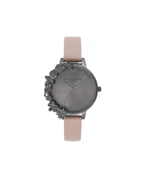 OLIVIA BURTON LONDON Twilight Case Cuff Demi Dial WatchOB16TW06 – Demi Dial in pink and Gunmetal - Front view