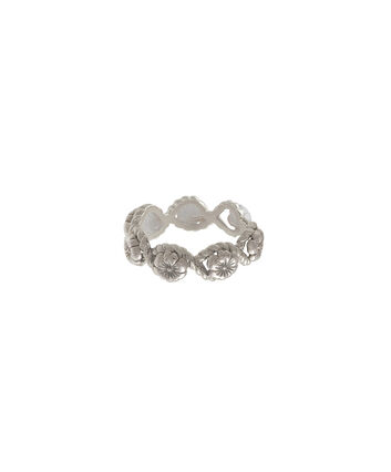 OLIVIA BURTON LONDON Floral CharmOBJ16FSR06 – Floral Charm Ring - Front view