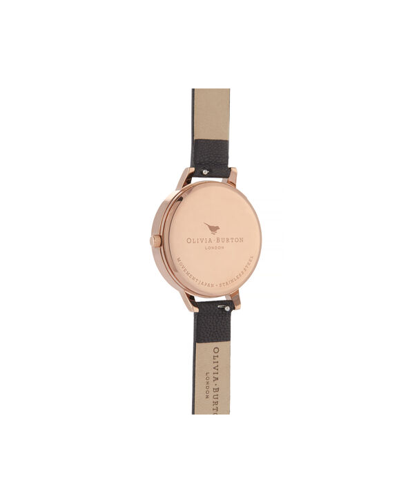 OLIVIA BURTON LONDON Celestial Demi Dial WatchOB16GD22 – Demi Dial in black and Rose Gold - Back view