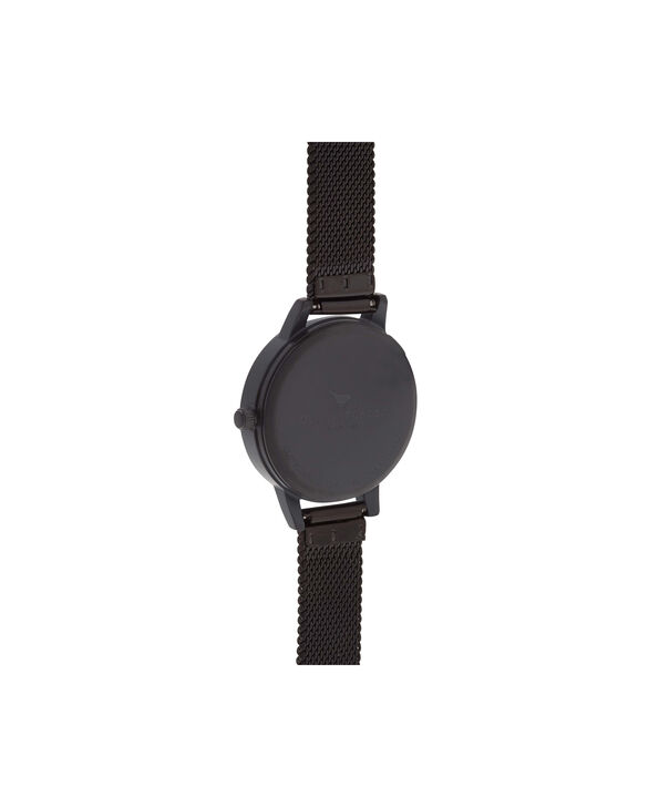 OLIVIA BURTON LONDON  White Dial IP Black Mesh Watch OB16MDW08 – Midi Dial Round in Black IP and white - Back view