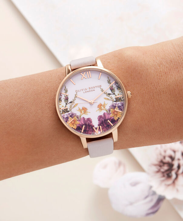 OLIVIA BURTON LONDON  Enchanted Gardens Blossom & Rose Gold Watch OB16EG81 – Big Dial Round in Blossom and Floral - Other view