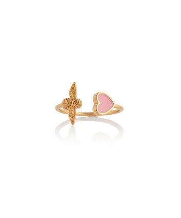 OLIVIA BURTON LONDON Love Bug Ring Pink & GoldOBJLHR07 – SHOPBAG_LABEL - Front view