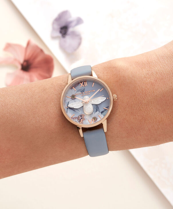 OLIVIA BURTON LONDON  Bejewelled Silver & Rose Gold Watch OB16BF07 – Midi Round Silver and Rose Gold - Other view