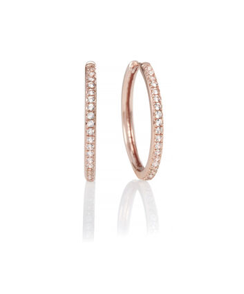 OLIVIA BURTON LONDON Hoop Earrings Cubic Zirconia & Rose GoldOBJ16COE13 – 0 - Front view