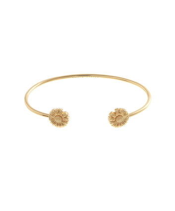 OLIVIA BURTON LONDON  Daisy Open Ended Bangle Gold OBJ16DAB03 – 3D Daisy Bangle - Front view