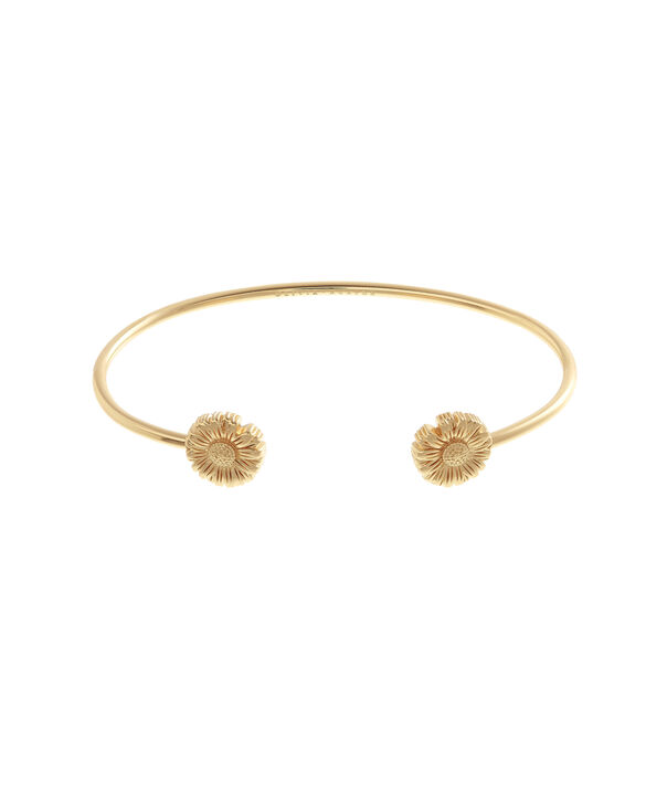 Ladies Daisy Open Ended Bangle Gold | Olivia Burton London