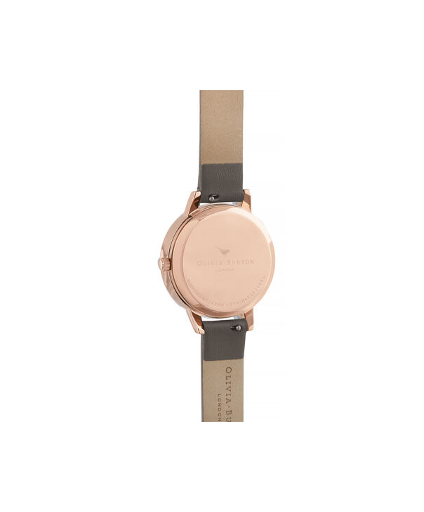 OLIVIA BURTON LONDON Midi 3D Bee Vegan London Grey & Rose GoldOB16CS19 – Midi Dial in London Grey and Rose Gold - Back view