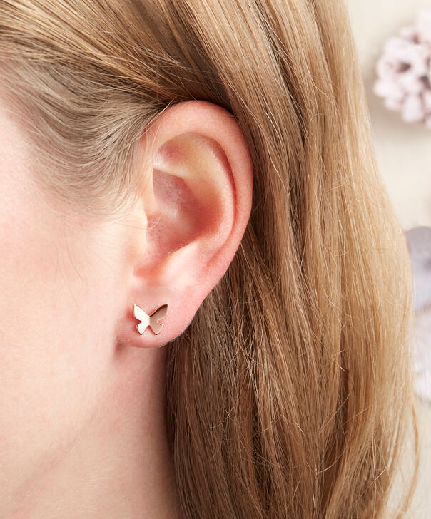 OLIVIA BURTON LONDON  Social Butterfly Stud Earrings Rose Gold OBJ16SBE02 – Social Butterfly Stud Earrings - Other view