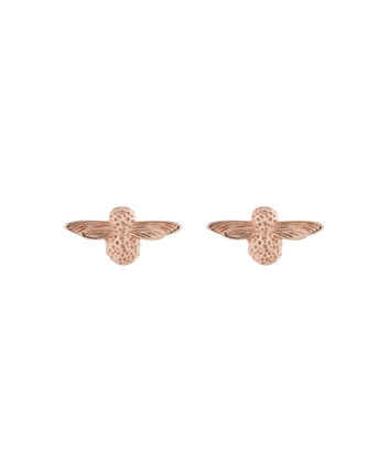 OLIVIA BURTON LONDON 3D Bee Studs Rose Gold OBJ16AME23 – 3D Bee Stud Earrings - Front view