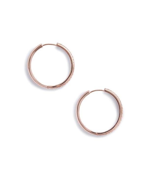 OLIVIA BURTON LONDON Hoop Earrings Cubic Zirconia & Rose GoldOBJ16COE13 – 0 - Side view