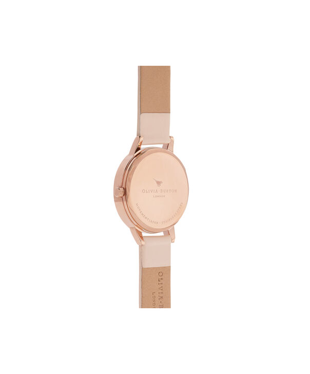 OLIVIA BURTON LONDON  Painterly Prints Nude Peach & Rose Gold Watch OB16PP20 – Midi Dial in White Floral and Nude Peach - Back view