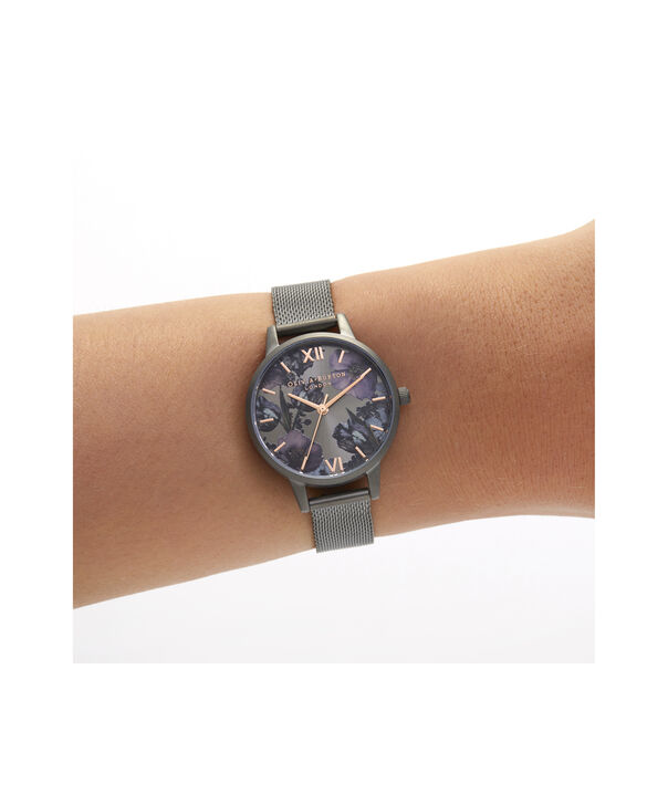 OLIVIA BURTON LONDON Twilight Midi Dial WatchOB16TW07 – Midi Dial in black and Gunmetal - Other view