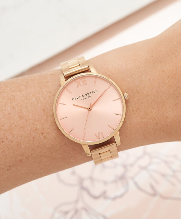 OLIVIA BURTON LONDON  Big Dial Bracelet Rose Gold Watch OB13BL07BS – Big Dial Round in Rose Gold - Other view